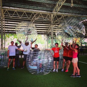 Fun day out with bubble soccer