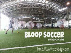 bubble soccer bumping